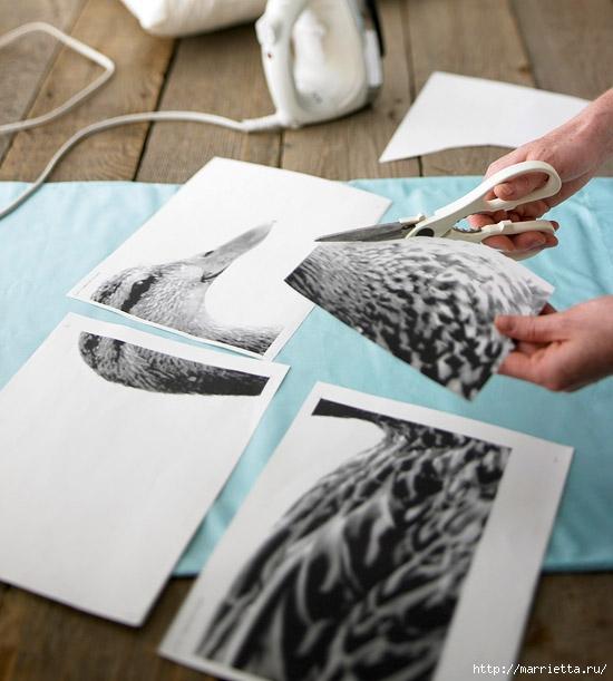 Бумага для переноса на цветные ткани