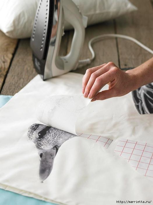 Дикая утка на подушке. Перенос изображения термотрансферной бумагой (4) (525x700, 189Kb)