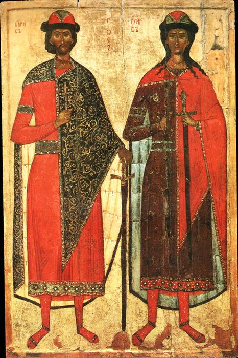 Святые братья-мученики Борис и Глеб (466x700, 212Kb)