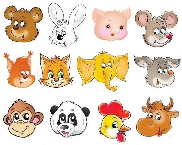 мордочки животных в детских картинках его