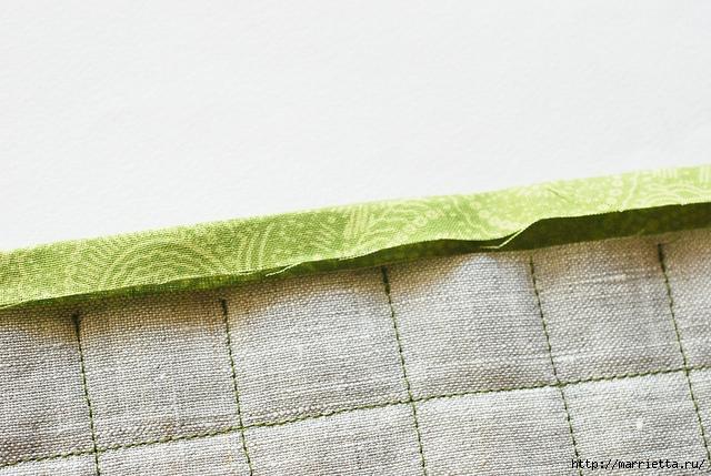 Стеганая салфетка с аппликацией ананаса. Лоскутное шитье (11) (640x429, 218Kb)