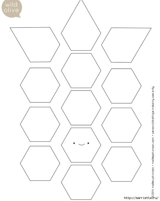 Стеганая салфетка с аппликацией ананаса. Лоскутное шитье (34) (559x700, 87Kb)