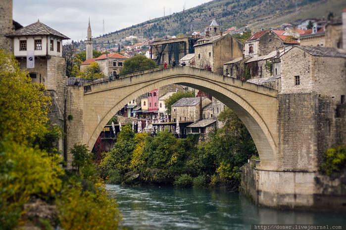 город мостар старый мост фото 2 (700x466, 466Kb)