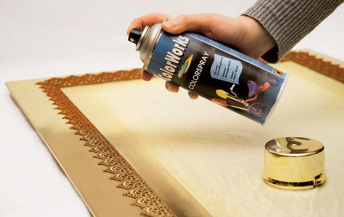 многообразие как покрасить декор золотом из баллончика уровень