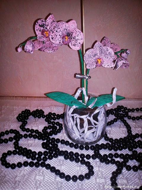 Цветы орхидеи в технике квиллинг (22) (480x640, 304Kb)