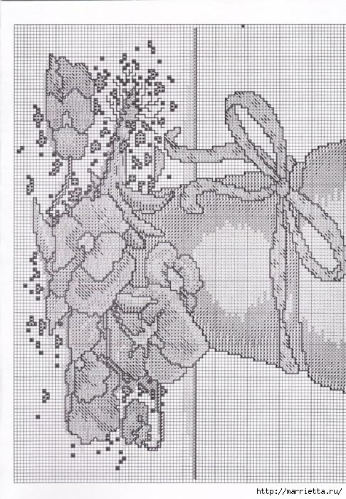 Схемы вышивки - котенок в кружке и в горшочке (6) (486x700, 325Kb)