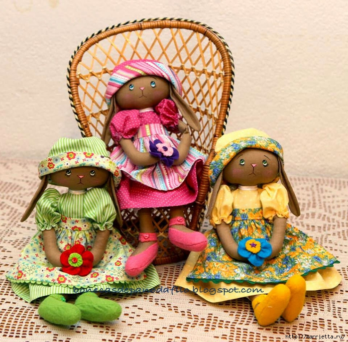 тряпичные куклы ручной работы (9) (700x687, 423Kb)