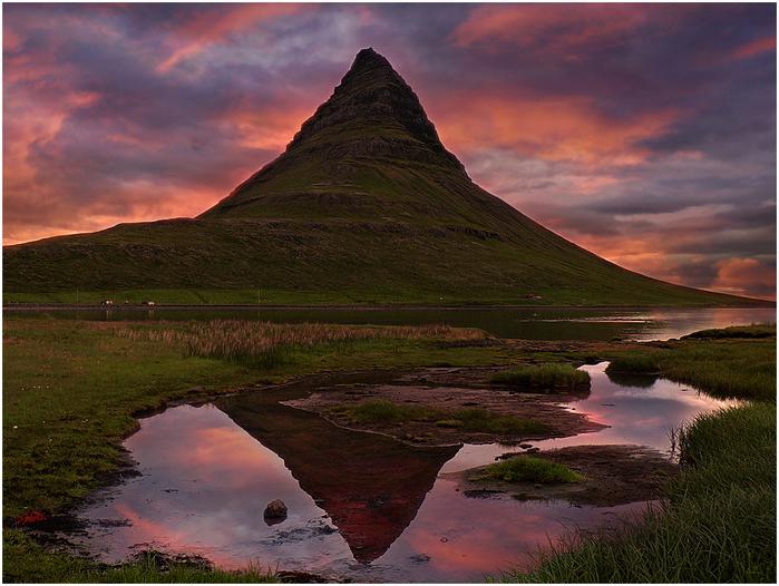 гора Киркьюфелл исландия фото 6 (700x526, 548Kb)
