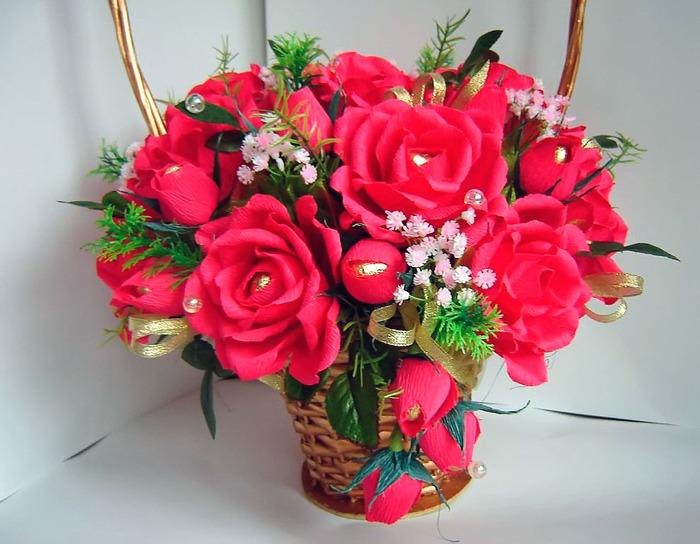 Букет из конфет пошаговое розы