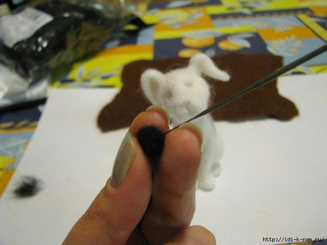 валяный далматинчик, как свалять долматинчика из шерсти, далматинчик из шерсти,