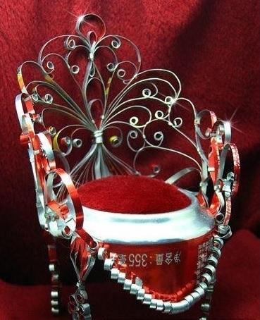 Царский трон из алюминиевой баночки. Мастер-класс (30) (369x454, 190Kb)
