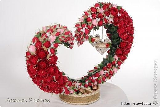 Свит-дизайн. Композиция в виде сердца из розочек (2) (520x346, 104Kb)
