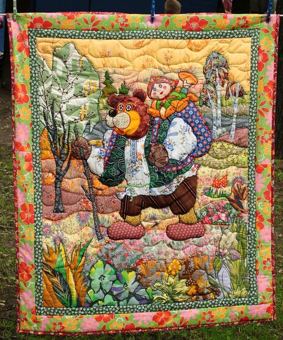 Картины своими руками из лоскутков ткани