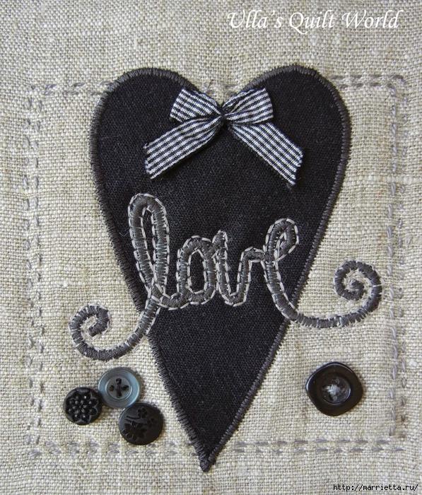 Любовные подушки с аппликацией (6) (597x700, 468Kb)