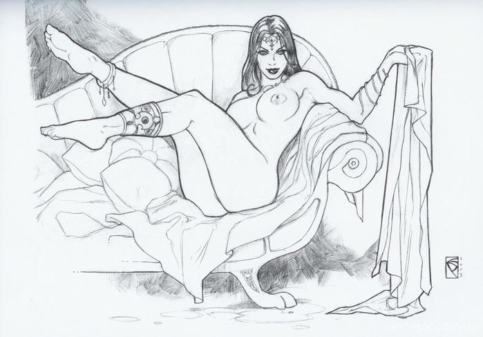 Порно рисунки ручкой