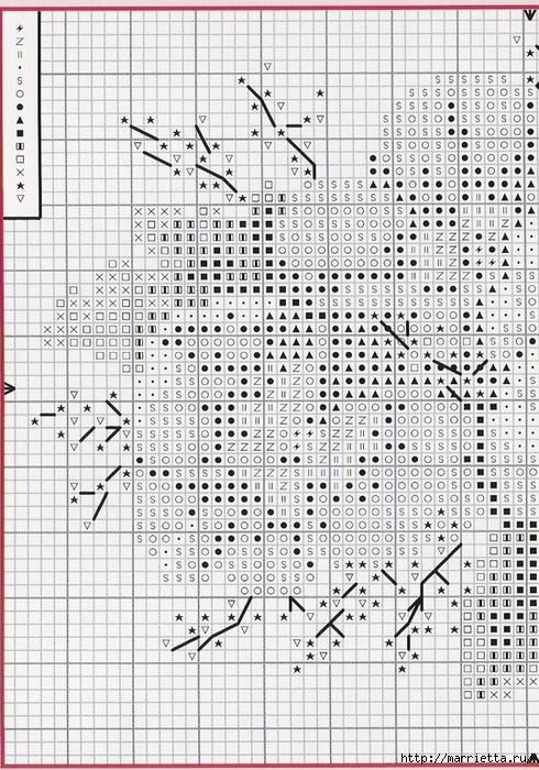 ФИАЛКИ - миниатюрная вышивка крестом (5) (490x700, 377Kb)