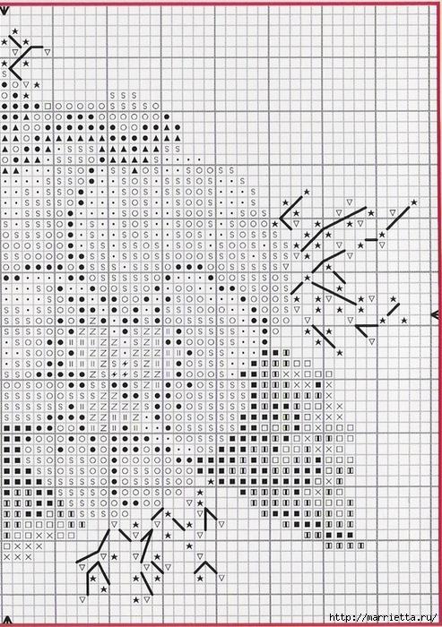 ФИАЛКИ - миниатюрная вышивка крестом (8) (493x700, 379Kb)