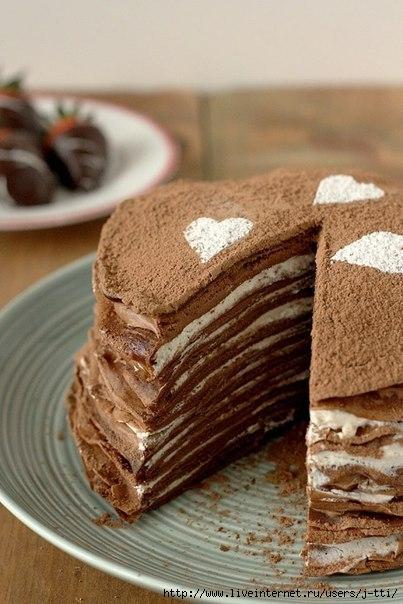 Блинный-шоколадный-торт-на-завтрак