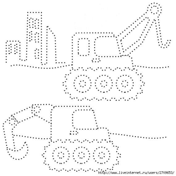Раскраски с точками для мальчиков