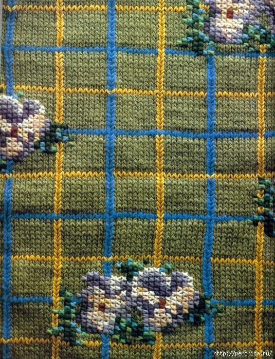 Как вышивать на вязаной одежде