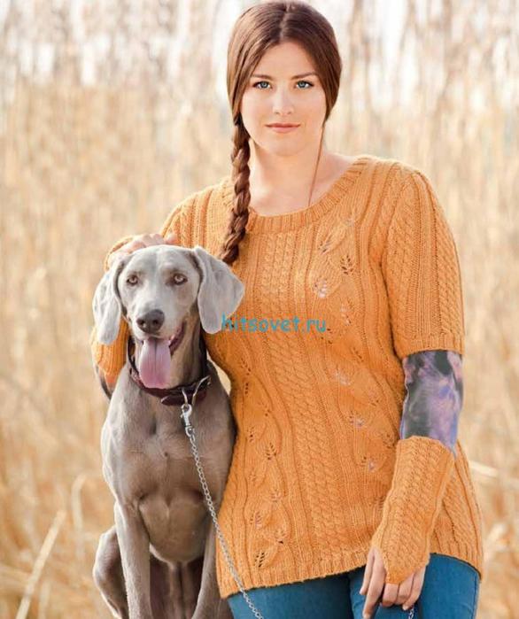 Вязание пуловера и