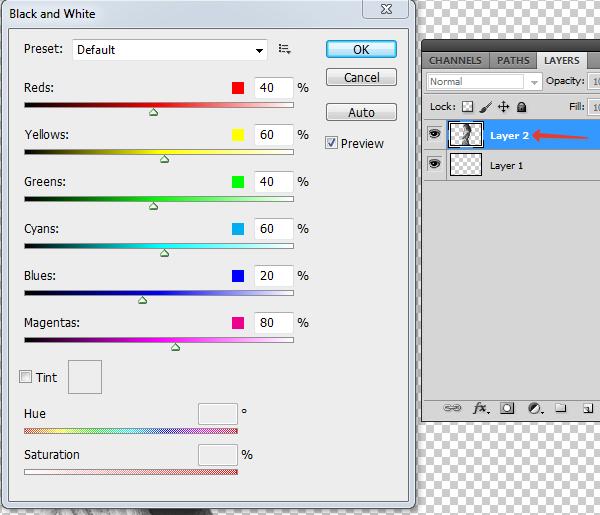 Как сделать полностью черно-белым