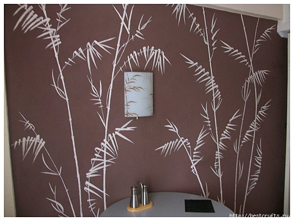 Роспись стен на кухне своими руками (11) (600x452, 145Kb)