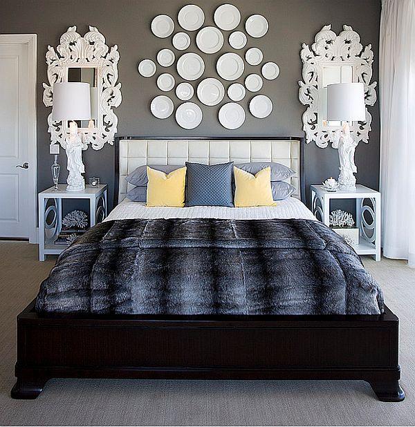 как украсить стену над кроватью