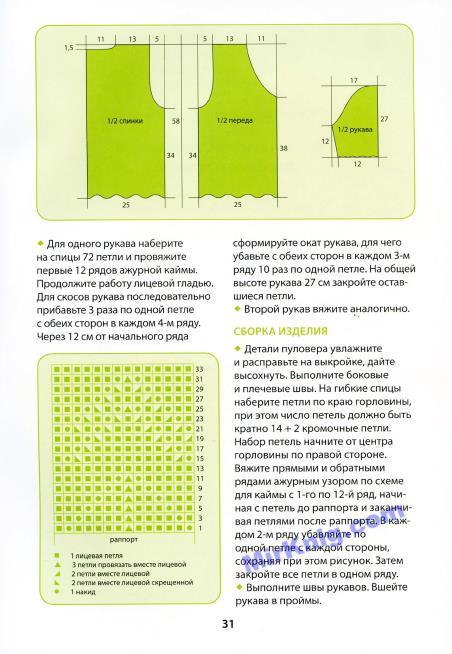 Каминская Е. - Вяжем свитера и пуловеры спицами и крючком (Секреты вязания) - 2013_32 (452x654, 196Kb)