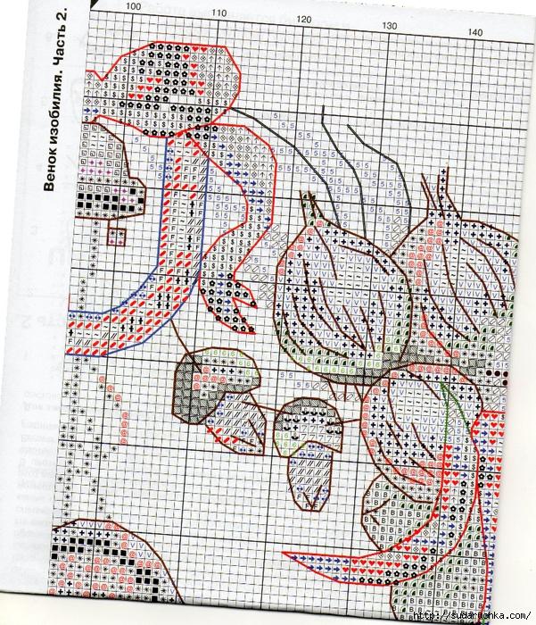 Схема вышивки венок изобилия 39
