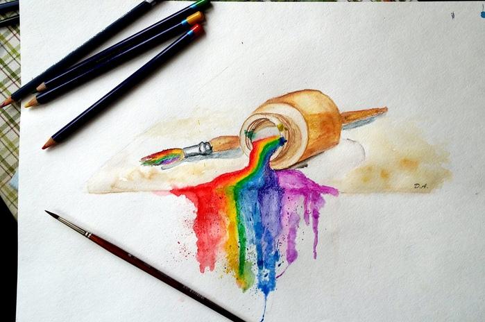 Рисовать красиво акварельными карандашами