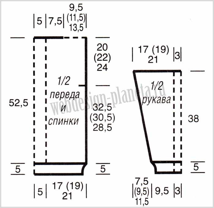 korichnevyj-pulover-spitsami-s-kosami-i-sumka-vykrojka (700x680, 158Kb)