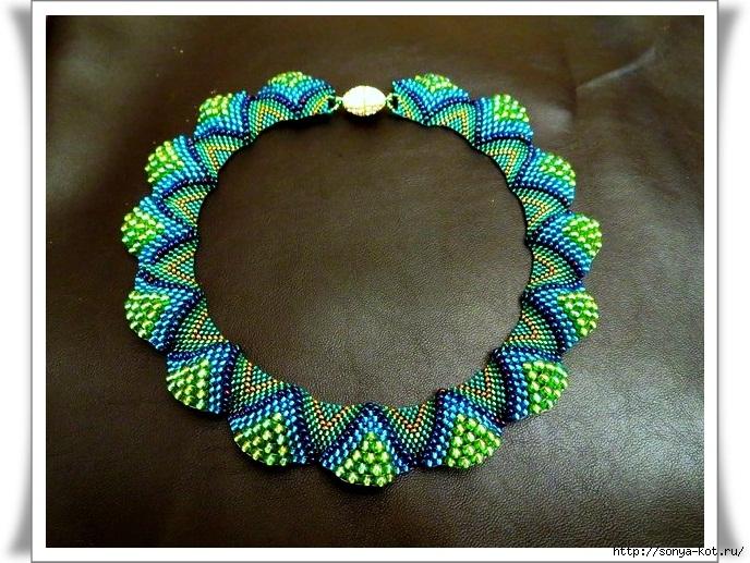 Красивое ожерелье из бисера схема фото 99