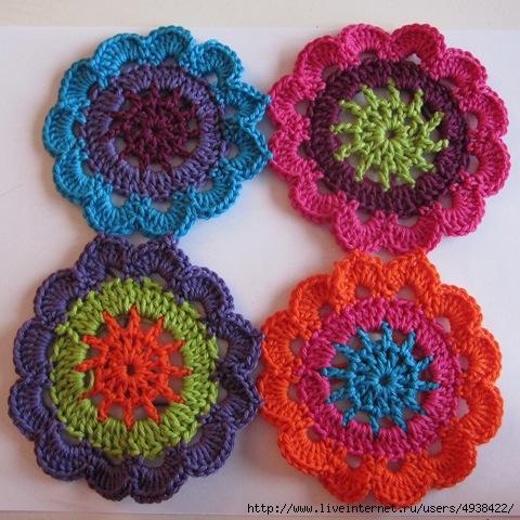 Как соединять цветы из кручка