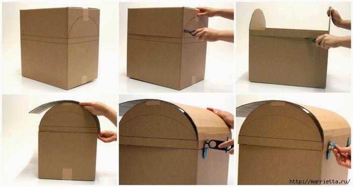 Сундук своими руками из коробок