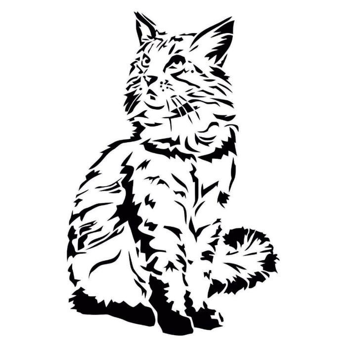 Картинки трафарет кот