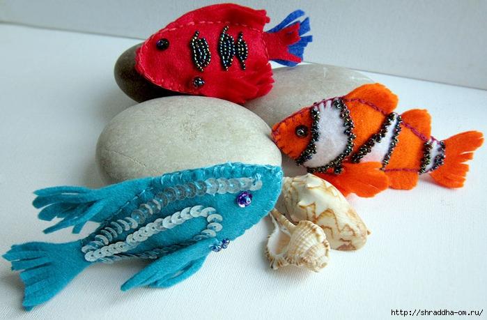 фетровые рыбки, автор Shraddha (1) (700x459, 229Kb)