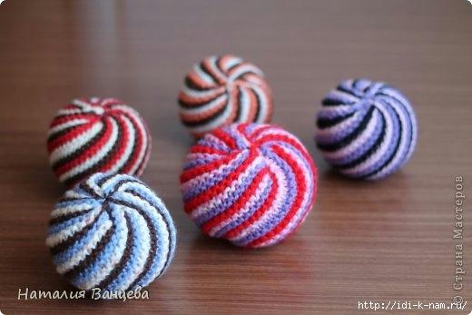 http://idi-k-nam.ru/, Хьюго Пьюго рукоделие, как сделать вязаный мячик, как связать мячик. мастер класс по вязанию мячика,