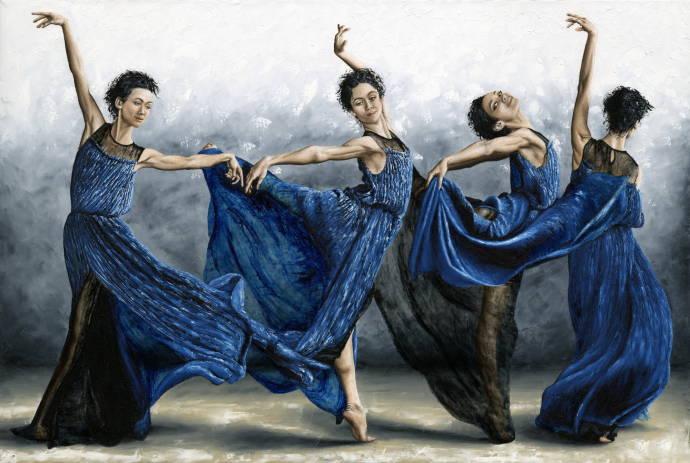 Стихотворение в платье голубом