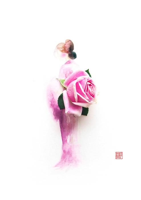 цветочные акварели Лим Чжи Вэй 7 (495x700, 106Kb)