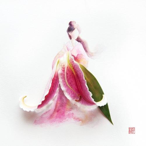 цветочные акварели Лим Чжи Вэй 9 (500x500, 144Kb)