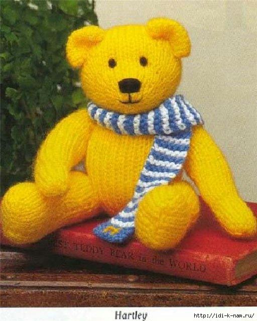 вязаный медведь медвежонок, как связать медведя медвежонка, схема вязания медведя медвежонка, Хьюго Пьюго рукоделие,