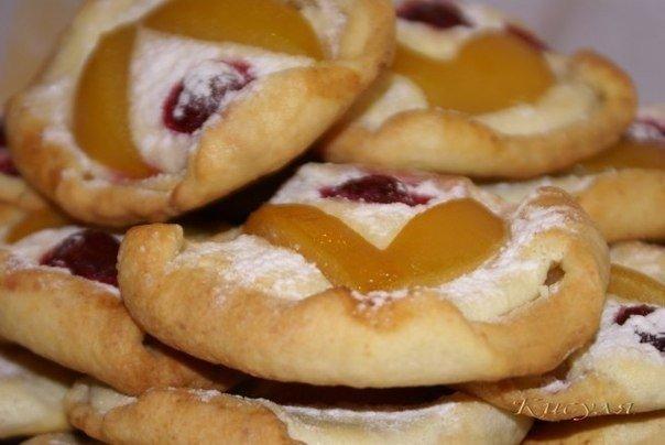 Творожное печенье-пирожное с фруктами (604x404, 41Kb)