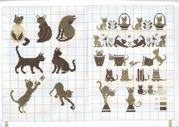 Схемы вышивки крестом миниатюры монохром