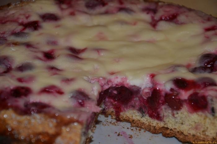 Пирог с вишней рецепт с пошагово со сметаной