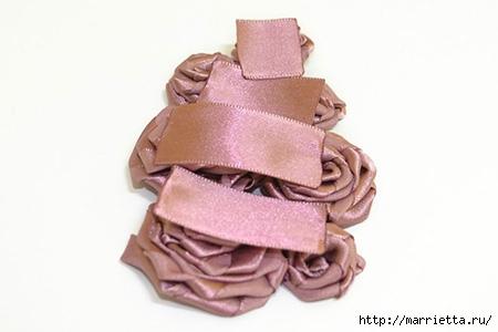 Ободок с цветами из шелковых ленточек. Мастер-класс (9) (450x300, 59Kb)