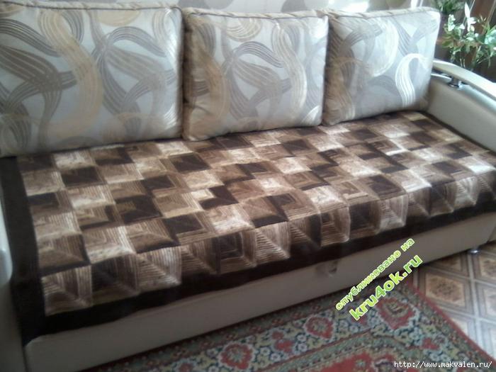 Плед на угловой диван своими руками крючком