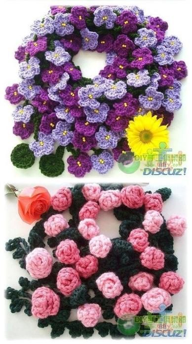 Цветочные шарфы