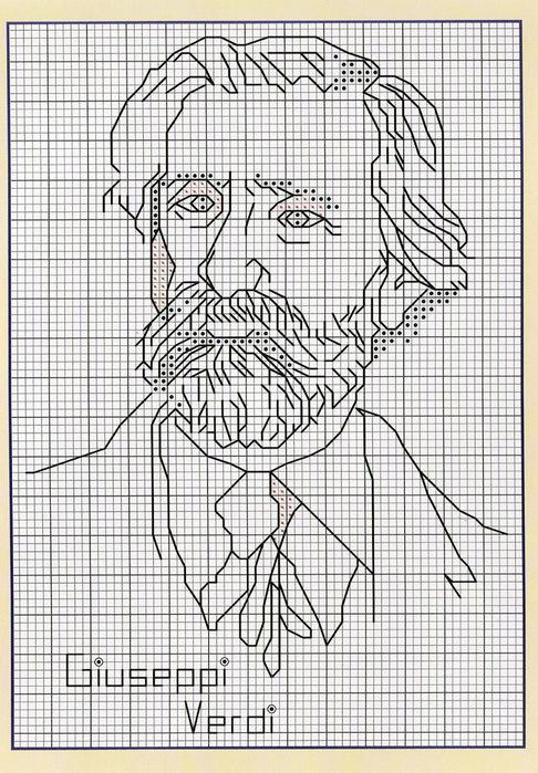 Пушкин схема вышивки крестом 73