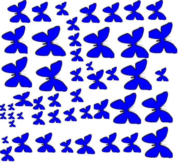 Распечатать трафареты бабочек для декора своими руками шаблоны